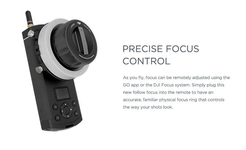 Zenmuse X5 Precise Focus Control