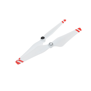 9450 Self-tightening Propellers (Metal Hub, White with Red Stripes)