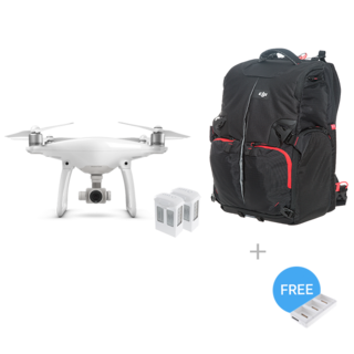 Phantom 4 + Two Extra Batteries + Phantom Backpack + Battery Charging Hub