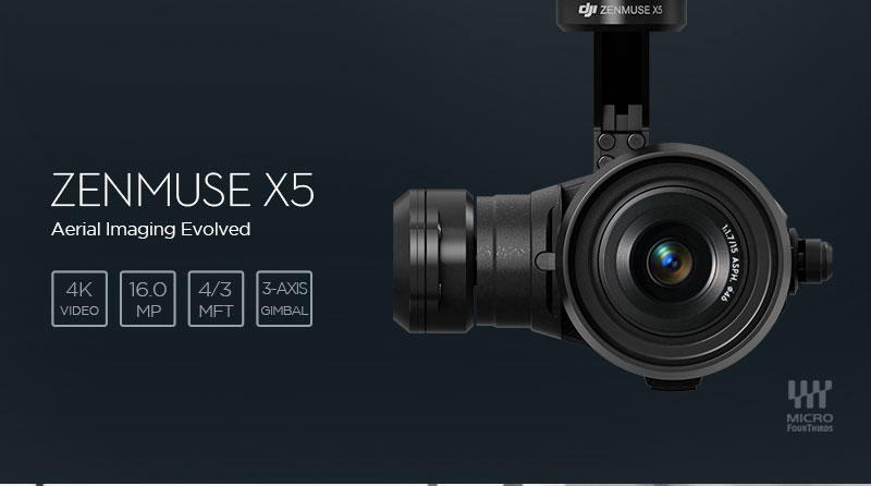 Zenmuse X5 Camera for the DJI Inspire 1 Pro Black Edition