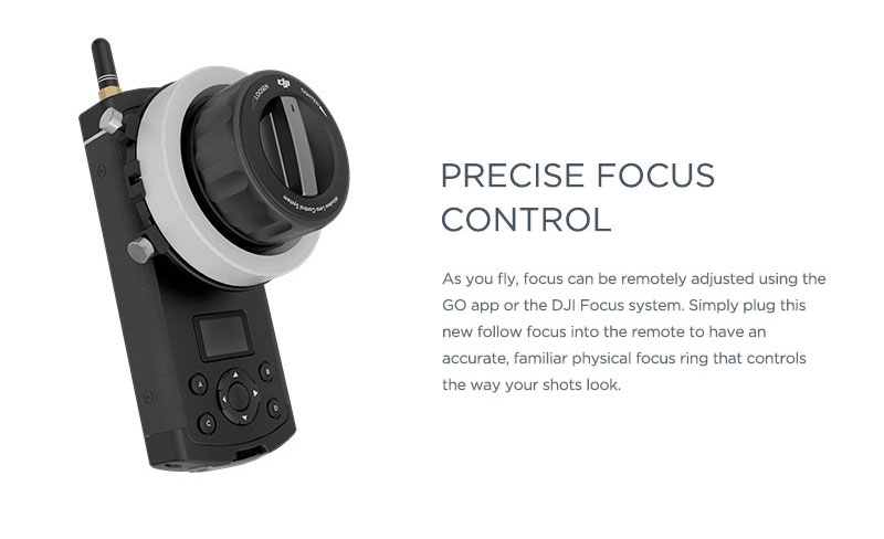 DJI Inspire 1 Precise Focus Control