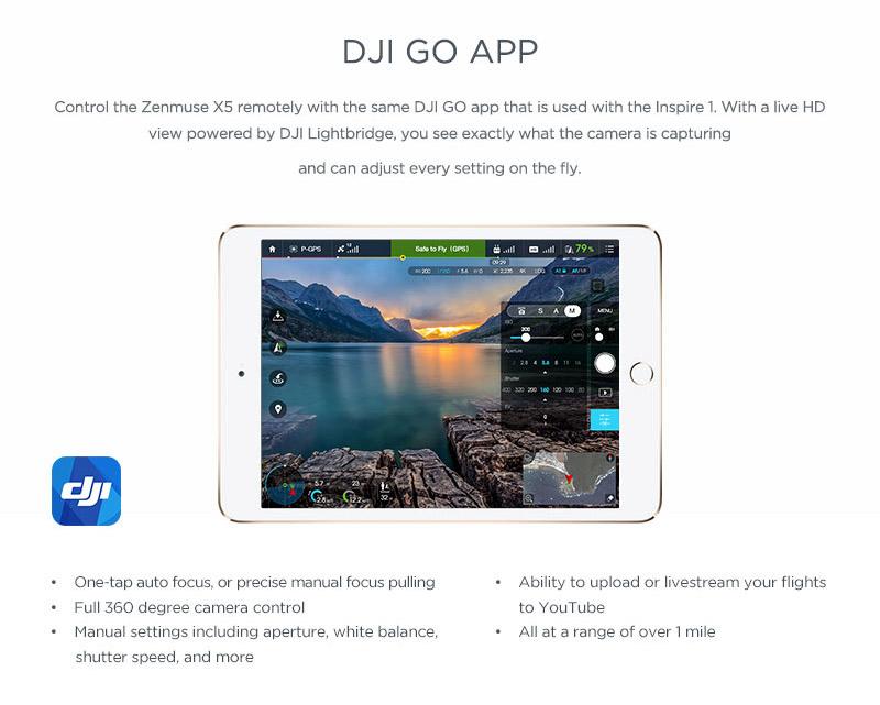 DJI Inspire 1 RAW DJI Go App
