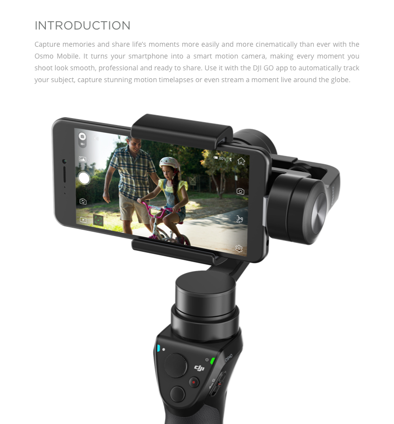 Buy DJI Osmo Mobile Black - Handheld Gimbal for Smartphone (DJI